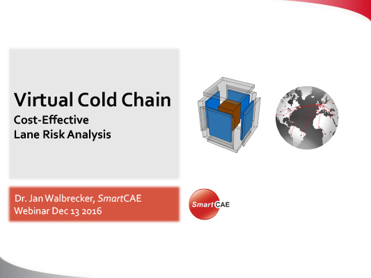 Webinar - SmartCAE Virtual Cold Chain